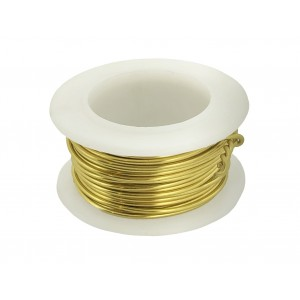 1MM BRASS WIRE ON REEL - 3.66 METERS