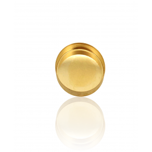 9K Yellow Gold Oval Bezel Cup 10mm x 12mm