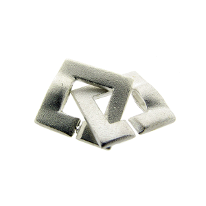 Sterling Silver 925 Square 2 part Clasp 12mm