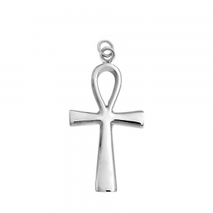 Sterling Silver 925 Ankh Pendant 23mm x 50mm