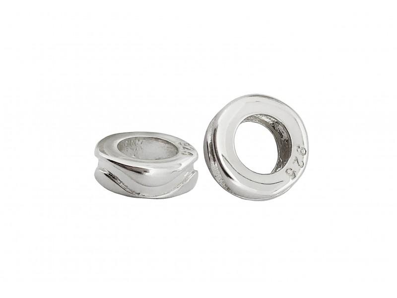 SILVER 925 9.5x3.3mm Silver Minerva