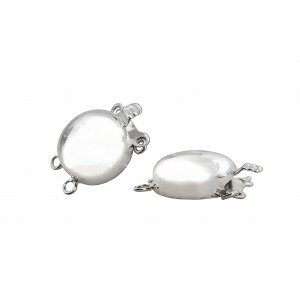 SILVER 925 13mm round shape silver clasps (2 strands)