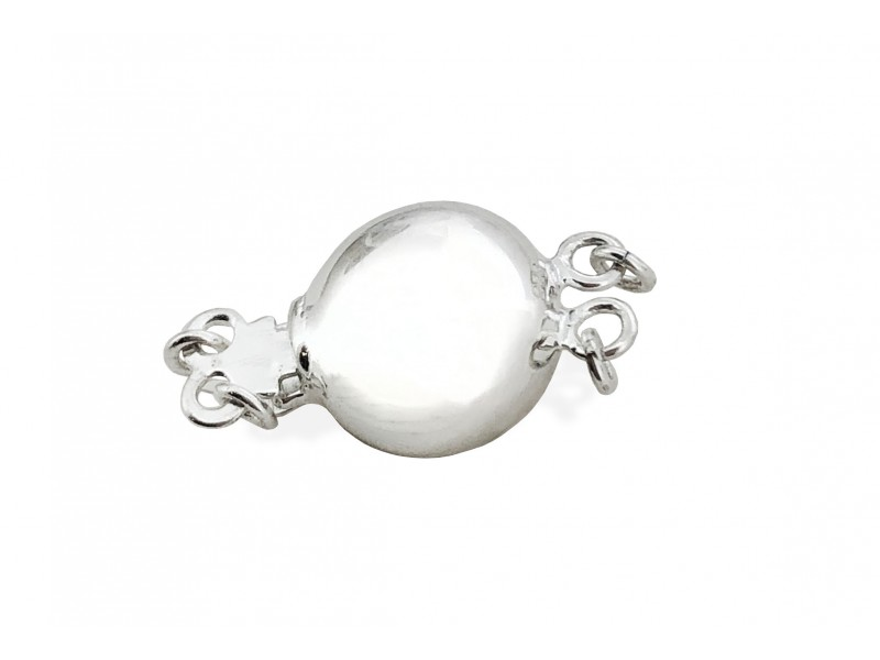 SLIVER 925 10mm 2 strands Round-shaped Safety Clasp