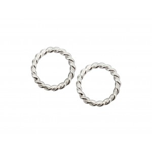 SILVER 925 8mm Twisted Soldered Ring