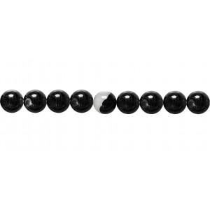 Agate Black & White line Round Beads