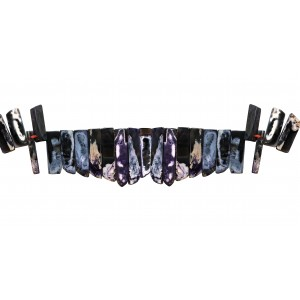Agate Dyed Flat Rectangle side drilled Beads