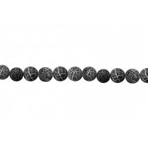 Agate Round rough Dark Blue Beads