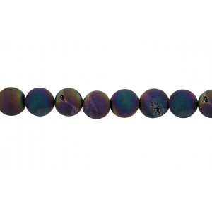 Agate Blue Coated 10mm Beads