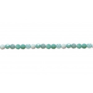 Amazonite Faceted Beads, 2 mm