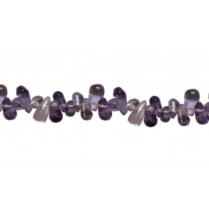 Amethyst Drop, Light Color, side drill Beads