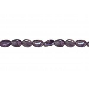 Amethyst Oval Beads, Light