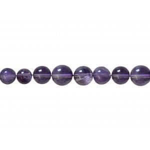 Amethyst Round  Beads, 10 mm