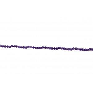 Amethyst Round Beads, 2-2.5 mm