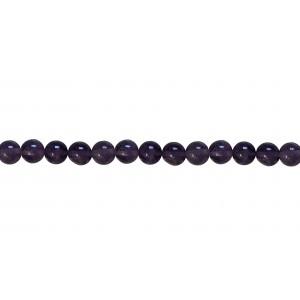Amethyst Round Dark Beads 6mm