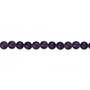 Amethyst Round Dark Beads
