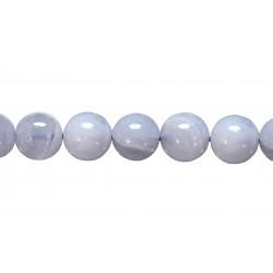 Chalcedony Round, 8 - 9 mm, Beads