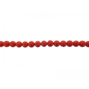 Coral Pressed Round Beads, Orange, 8 mm