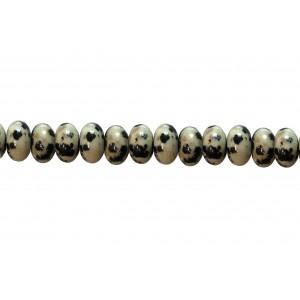 Dalmatian Rondelle Beads
