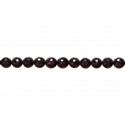 Garnet Faceted Beads, 12 mm