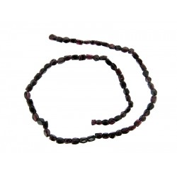 Garnet Square Faceted Beads