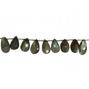 Labradorite Badamche / Drops / Briolette Faceted Choker Beads