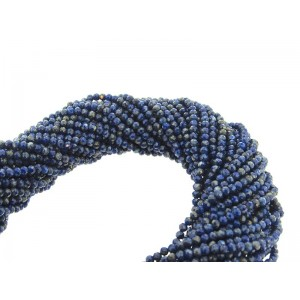 Lapis Faceted Round Beads - 2mm-2.5mm