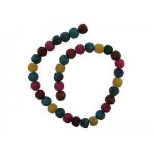 Lava Multi-colour Round Beads 12mm
