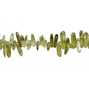 Lemon Quartz Tumble Stick (Tribal) Beads, Side-Drilled