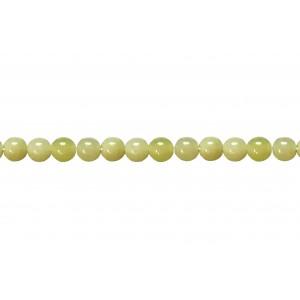 Olive Jade Round Beads, 4 mm