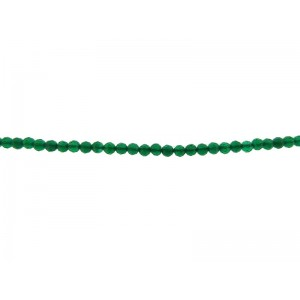 Onyx Green Faceted Round Beads - 2mm