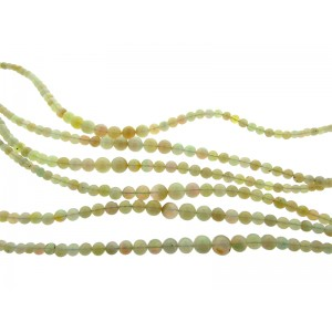 Ethiopian Opal Round Beads, graduated 3mm - 7mm, 16'' strand
