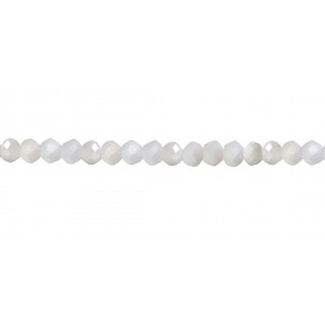 OPAL WHITE FACETED BEADS