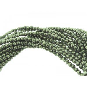 Pyrite Faceted Beads 3mm