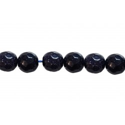 Sandstone Faceted Beads, Blue, 8 mm
