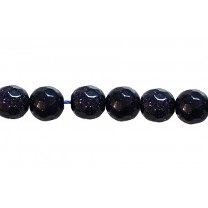 Sandstone Faceted Beads, Blue, 8 mm Goldstone Beads