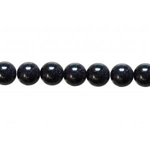 Sandstone Blue Round Beads, 10 mm