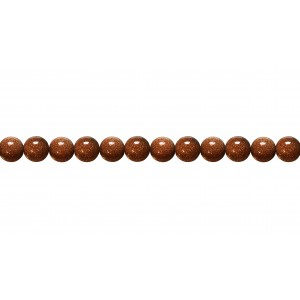 Goldstone Round Beads, Brown