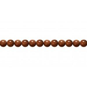 Goldstone Round Beads, Brown