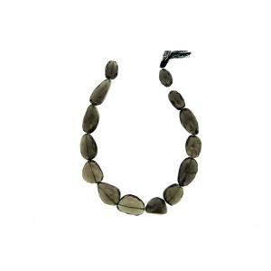 Smoky Quartz Tumble Faceted Beads