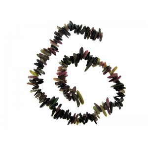 Tourmaline Chips Beads, side drilled, 16''