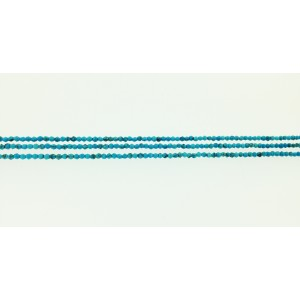Turquoise Pressed Faceted Beads, 2 mm