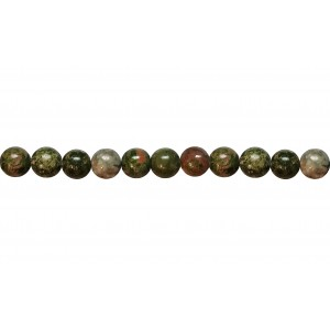 Unakite Round Beads - 8mm