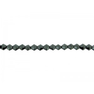 Hematite Bicone Shaped Beads 4mm