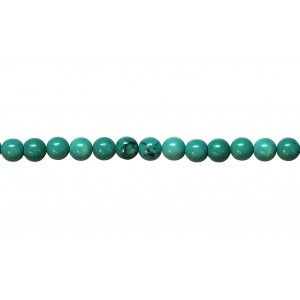 Blue Howlite 4mm Round Beads