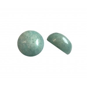 Amazonite Round  Cabs, 8 mm