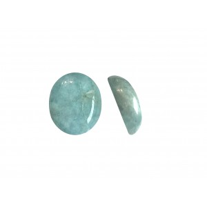 Amazonite Oval Cabs, 10 mm x 12 mm