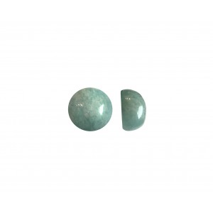 Amazonite Round  Cabs, 6 mm