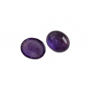 Amethyst Oval Cabs, 9 x 11 mm