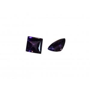 Amethyst Stone, Buff Top cut, 8 mm