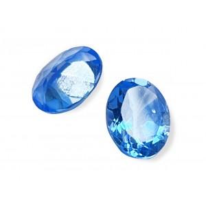 Blue Topaz Cut Stone, Oval, Dark, 8 x 10 mm